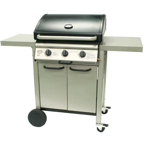 Stainless Steel Grill Cabinets by Gas Bbq Barbecue 3 Burner Stainless Steel Grill Griddle