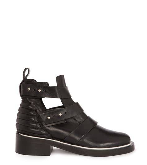 cutout boots maje epeter leather cutout boots in black lyst