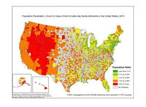most populated state in usa most and least mormon states in america photos huffpost