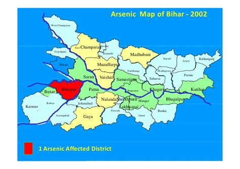 map of begusarai district arsenic in ground water of bihar