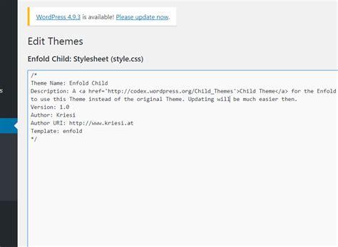 enfold theme quick css add custom css 2018 documentation