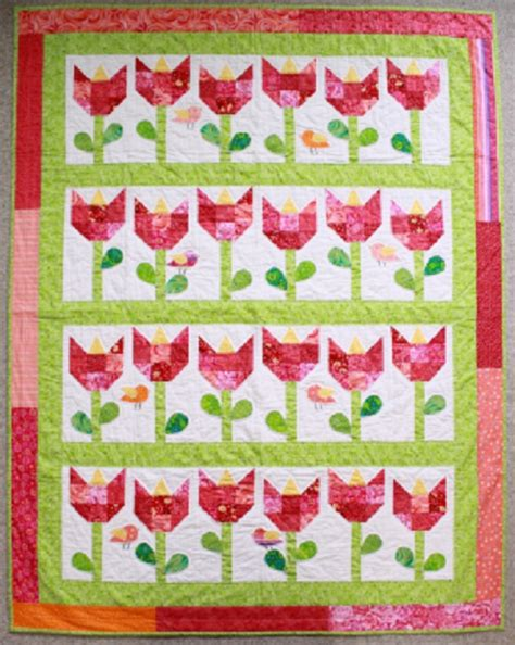 Patchwork Quilt Books For Beginners - quilt patchwork tulips pattern pdf