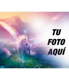 imagenes unicornios fantasia fotomontaje de fantasia para poner tu foto junto a
