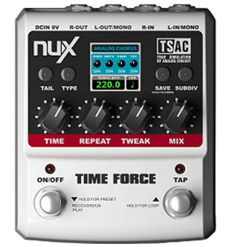 Multi Effect nux time digital analogue delay multi effects pedal