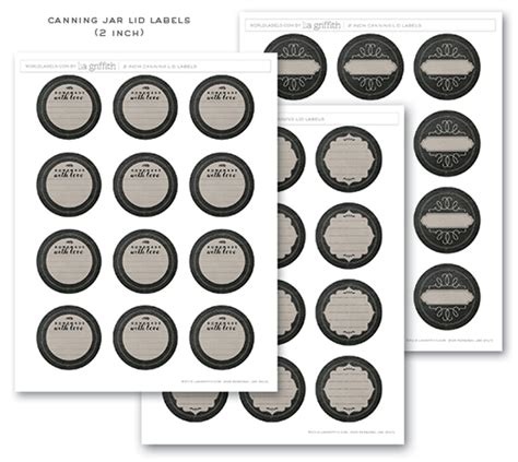 Decorative Canning Lids Chalkboard Canning Amp Freezer Labels By Lia Griffith