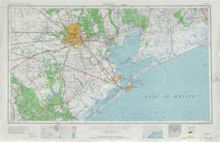 houston topographic map sheet united states 1956 size