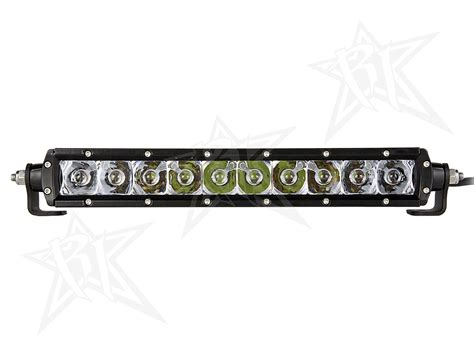 10 Inch Led Light Bar Rigid Industries 10 Inch Sr Series Led Light Bar White Combo 910312