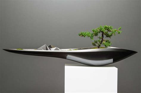 Planter Design | elegant kasokudo bonsai planter inspired by the automotive
