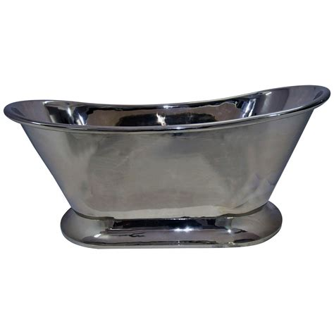 Nickel Bathtub by Nickel Finish Curved Pedestal Copper Bathtub Coppersmith