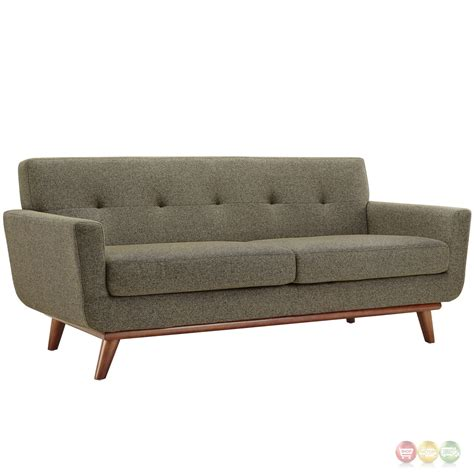 engage modern 2pc upholstered button tufted sofa loveseat