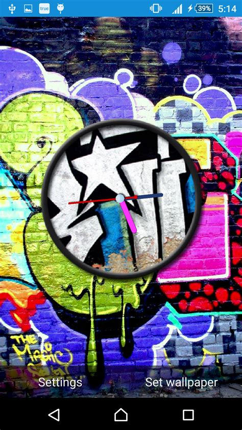 graffiti wallpaper amazon graffiti clock live wallpaper amazon ca appstore for android
