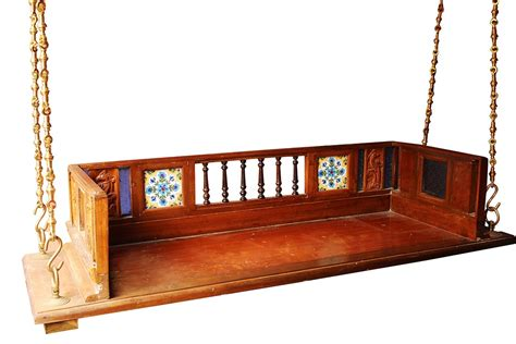 swing online 3 seater jhula with back rest and inset madhurya