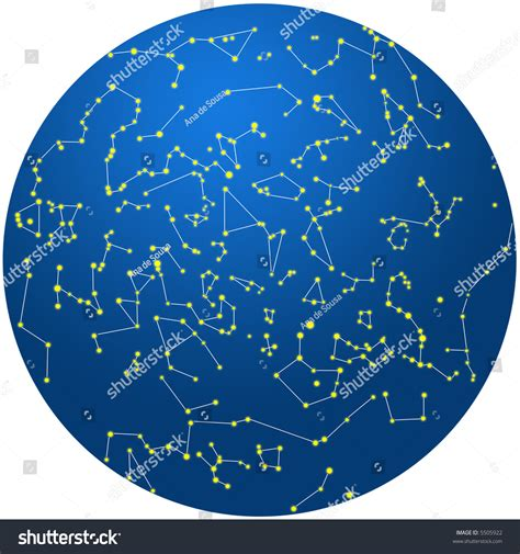 in the southern hemisphere constellations southern hemisphere stock illustration