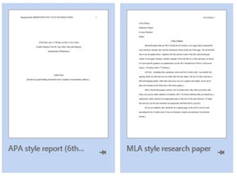 Apa Format Word Template finding mla and apa templates in ms word from the
