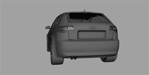 Ma E Audi A3 Sportback by Audi A3 Sportback 2008 3d Model Max Obj 3ds Fbx Ma Mb