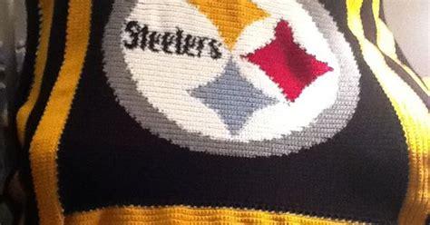 crochet pattern steelers logo citiusa pittsburgh steelers logo crochet afghan graph