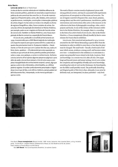 24ª Bienal de São Paulo (1998) - Exposição: Arte