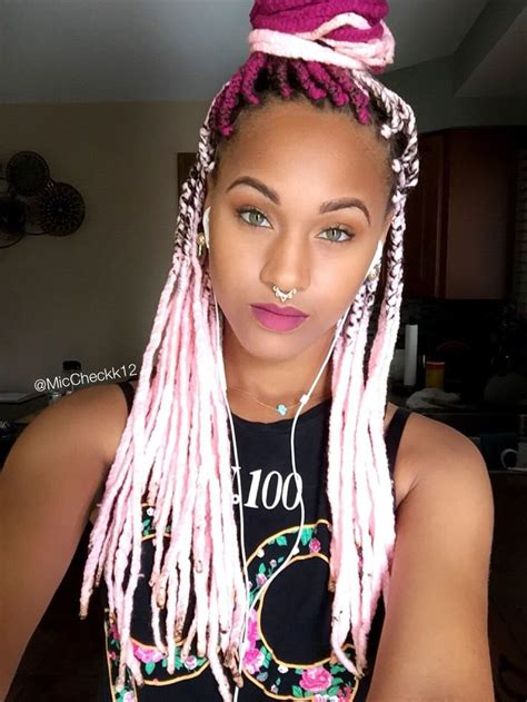 blonde pink black braids yarn twists inspiration essence com