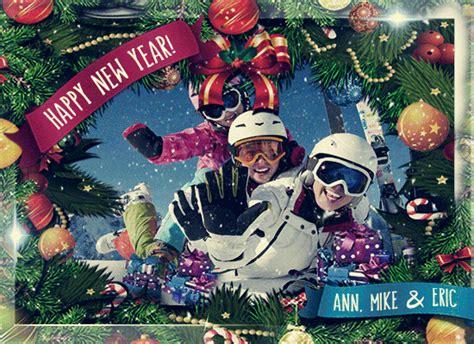 animated christmas card template gif editable greeting ecard  falling snow merry
