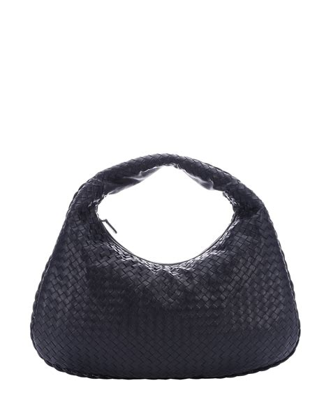 bottega veneta tourmaline intrecciato leather hobo bag