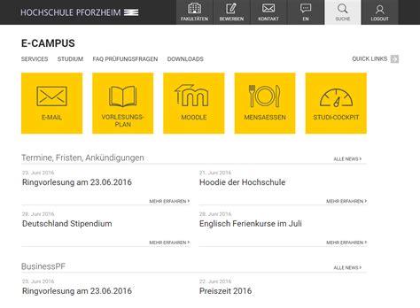 Hochschule Pforzheim Bewerbung Und Zulabung Werkraum Gmbh Ihre Typo3 Agentur In Karlsruhe Projekte
