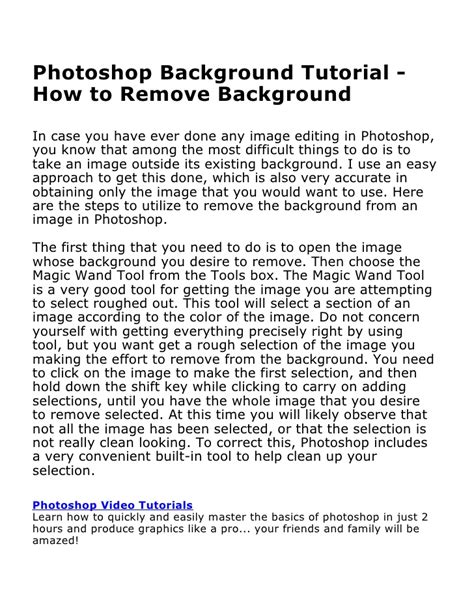 tutorial photoshop slideshare photoshop background tutorial how to remove background