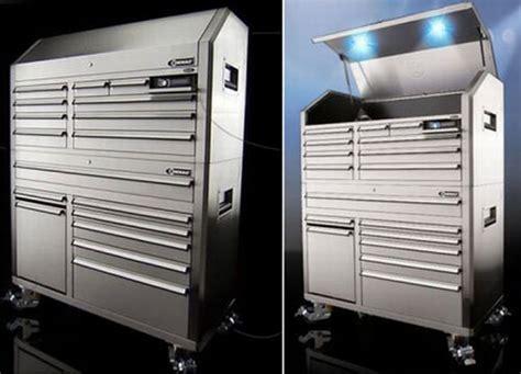 kobalt   tool chest integrates sound system