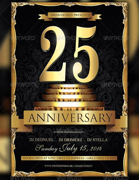 17 best anniversary flyer templates psd designs free