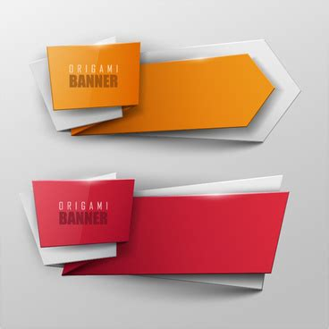 How To Make A Paper Banner - origami banner free vector 8 828 free vector