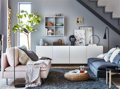 أثاث غرفة الجلوس كنبات طاولات قهوة وأفكار ايكيا