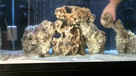 40 gallon reef tank part 3 fiji live rock aquascape