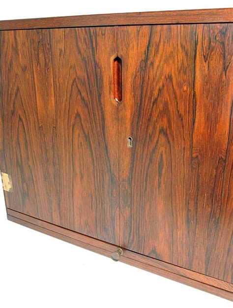 Wall Mounted Rosewood Bar Cabinet By Svend Langkilde At Wall Mounted Bar Cabinets For Home