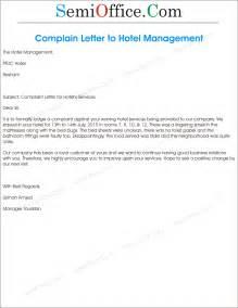 complaint letter to hotel management