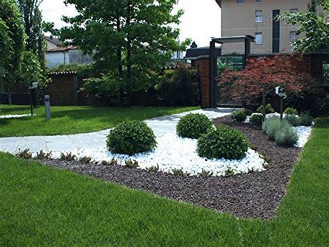sassi bianchi da giardino 4 sacchi da 25kg ciottoli di marmo bianco carrara 40 60 mm