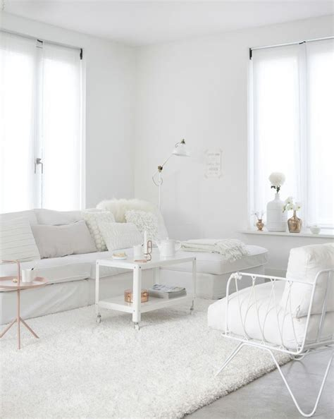 living room in white advertisement