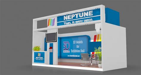 Exhibition Stall 3d Model Free