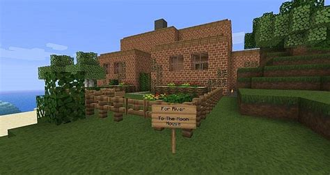 what house is the moon in to the moon house and lighthouse minecraft project