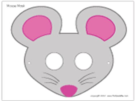 mouse mask template printable mouse mask printable templates coloring pages