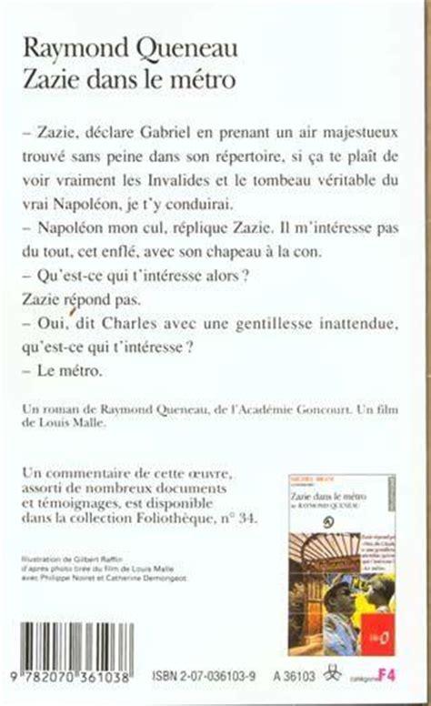 Résumé Zazie Dans Le Métro Livre Zazie Dans Le M 233 Tro Raymond Queneau