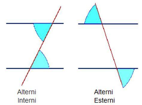 angoli alterni interni rette parallele tagliate da una trasversale osmosi delle