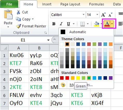 how to change font color in docs how to change font color based on cell value in excel