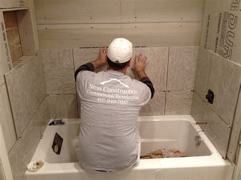 How To Tile A Bathroom Shower Wall Tile Installation Bath Tub Installation In Maitland Fl Dommerich Sless Construction