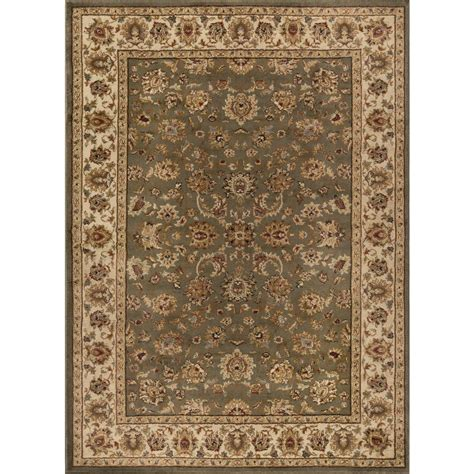 Area Rugs 6 X 9 Tayse Rugs Elegance Green 7 Ft 6 In X 9 Ft 10 In Indoor Area Rug 5375 Green 8x10 The Home