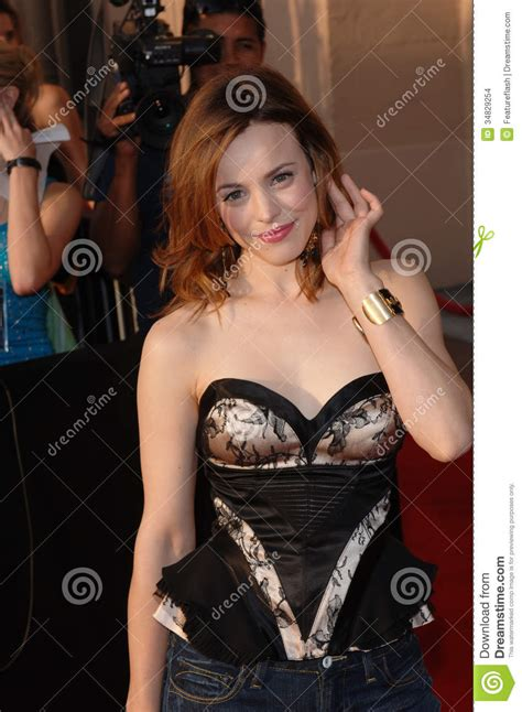 best breakthrough performance mtv awards mcadams editorial stock image image 34829254
