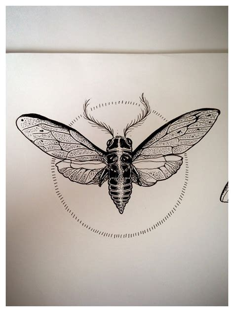 dotwork cicadas on behance