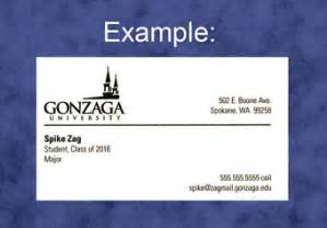 student business cards exles ordering business cards gonzaga