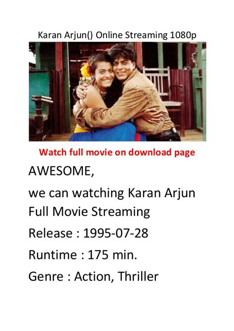 action und comedy film karan arjun online streaming 1080p best action and