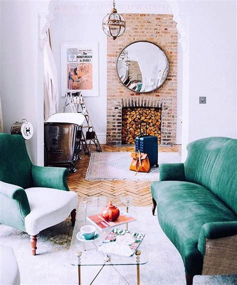 bohemian living rooms best 25 green couch decor ideas on pinterest green sofa