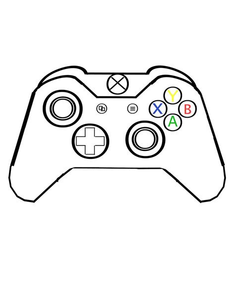 Drawing Xbox by Xbox One Controller Drawing Www Pixshark Images