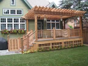 Pressure Treated Pergola by Landscape Amp Deck